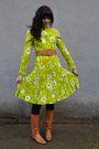 Green-vintage-dress-black-american-apparel-pants-brown-vintage-belt-brown-