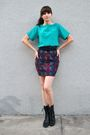 Blue-vintage-blouse-black-thrifted-belt-purple-vintage-skirt-black-dolce-v