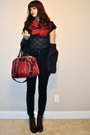 Black-vintage-jacket-red-vans-bag-black-vintage-from-chic-swap-blouse-blac