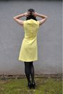 Yellow-vintage-dress-black-target-tights-black-via-spiga-shoes-black-forev
