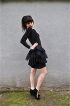 black vintage dress - black Jeffrey Campbell shoes