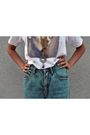 White-t-shirt-vintage-code-bleu-jeans-cynthia-vincent-for-target-shoes-gol