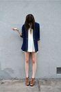 Blue-vintage-blazer-beige-vintage-skirt-gold-forever-21-necklace-brown-cyn