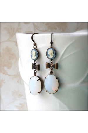 black Kellyssima dress - blue Kellyssima earrings - black Kellyssima earrings -