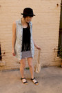 Black-suede-fringed-forever-21-top-light-blue-denim-ll-bean-dress