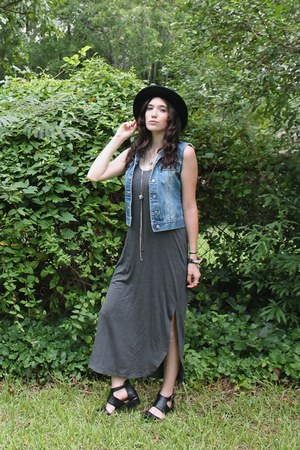 black panama hat San Diego Hat Co hat - black cut out Urban Outfitters boots
