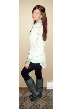 high-lo Haute Juncture blouse - rouched Lower East Side boots