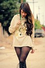 Black-lace-up-boots-romwe-boots-black-pacsun-tights-cream-forever21-necklace