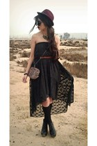 black lace Forever 21 dress