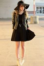 Black-foreign-exchange-dress-black-needsupply-hat-dark-gray-pacsun-jacket