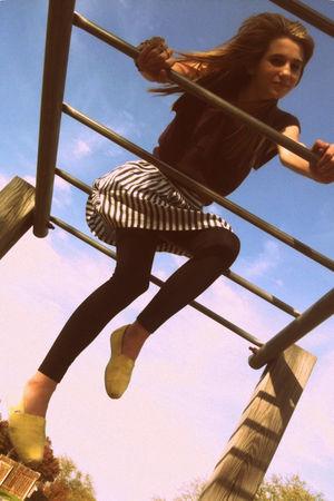 purple Charlotte Russe shirt - gray Forever21 skirt - black Forever 21 leggings