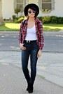 Black-suede-heavenlycouture-boots-navy-denim-pacsun-jeans