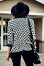 Checkered-my-design-blazer-suede-sheinside-boots-romwe-bag