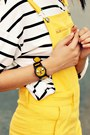 Yellow-adventure-time-hot-topic-watch-black-buckle-romwe-boots