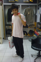 Levis t-shirt - casio accessories - Levis pants - Converse shoes