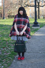 Heather-gray-i-heart-ronson-dress-black-opaque-tights-green-deena-ozzy-bag
