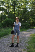 Frye boots - PROENZA SCHOULER bag - Alexander Wang t-shirt - vintage romper
