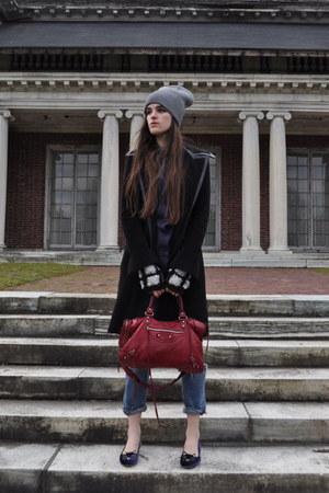 balenciaga bag - madewell jeans - balenciaga purse - Charlotte Olympia flats