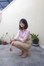 Nude-patent-leather-newlook-heels-light-pink-eyelet-vintage-shirt