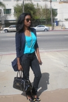 Ray bans glasses - Forever21 - Express t-shirt - anya hindmarch for target purse