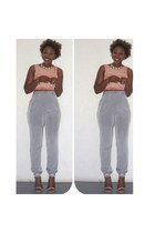 silver trousers American Apparel pants