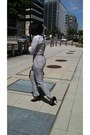 Black-steve-madden-shoes-silver-grey-trousers-american-apparel-pants