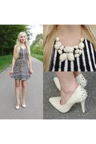 Wholesale-Dress necklace - H&M dress - OASAP bag