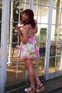White-asda-shoes-bubble-gum-topshop-dress