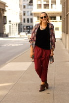 navy kimono Forever 21 cardigan - brown Nordstrom boots