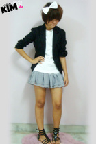 jacket - t-shirt - skirt - shoes