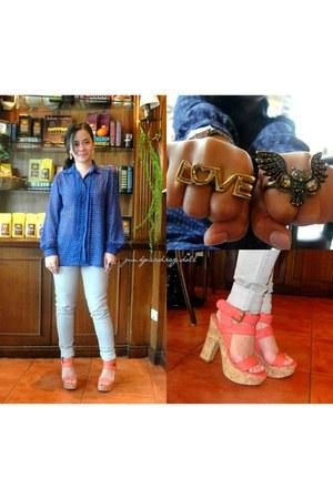 coral Parfois heels