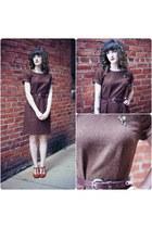 dark brown vintage dress