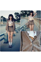 American Apparel coat - American Apparel shorts - American Apparel blouse