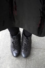 White-kira-plastinina-coat-black-asos-skirt