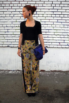 mustard Topshop pants - black Topshop vest