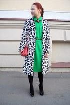 green cocept club dress - black Miu Miu heels