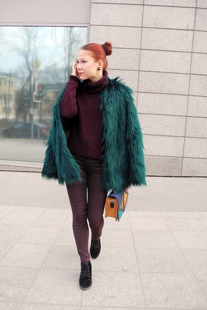 dark green Bershka coat