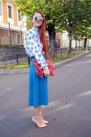 teal Sultanna Frantsuzova skirt - cream Topshop heels