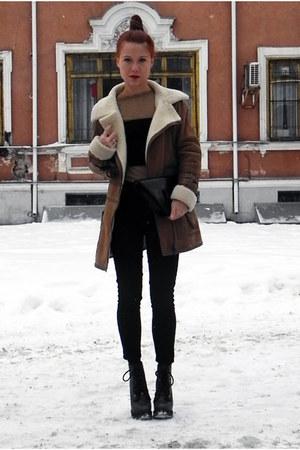 camel Mango coat