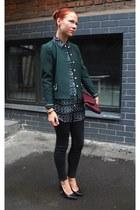 black Topshop jeans - dark green Topman blouse