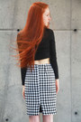 Black-crop-top-very-honey-top-houndstooth-very-honey-skirt