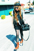 3 Polo boots - Studio F bag - polka dots Bershka blouse