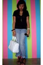 shirt - necklace - bangkok accessories - purse - sunglasses - shoes