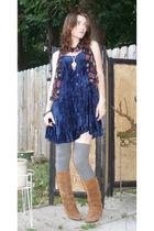blue ebay vintage dress