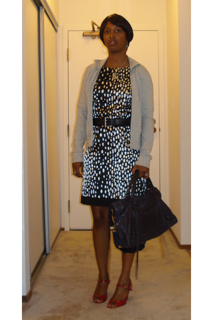 abercrombie &amp; fitch jacket - Zara dress - Prada shoes - balenciaga purse