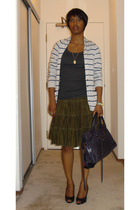 Theory sweater - BP t-shirt - vintage skirt - PROENZA SCHOULER shoes