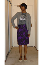 J Crew sweater - vintage t-shirt - PROENZA SCHOULER skirt - narciso rodriguez sh