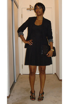 JCrew blazer - H&M dress - Zara shoes - balenciaga purse
