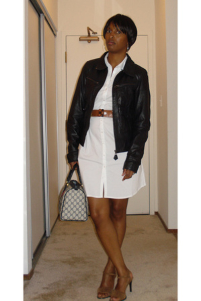Zara jacket - H&M dress - Mia shoes - Gucci purse