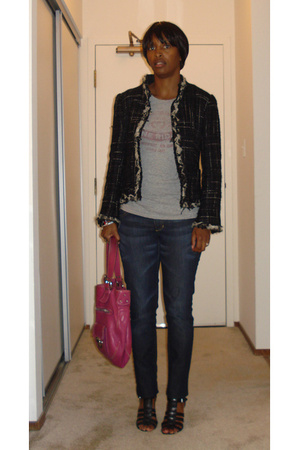 Zara jacket - vintage t-shirt - H&M jeans - Nine West shoes